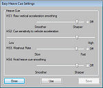 Motion Cue Slider Settings