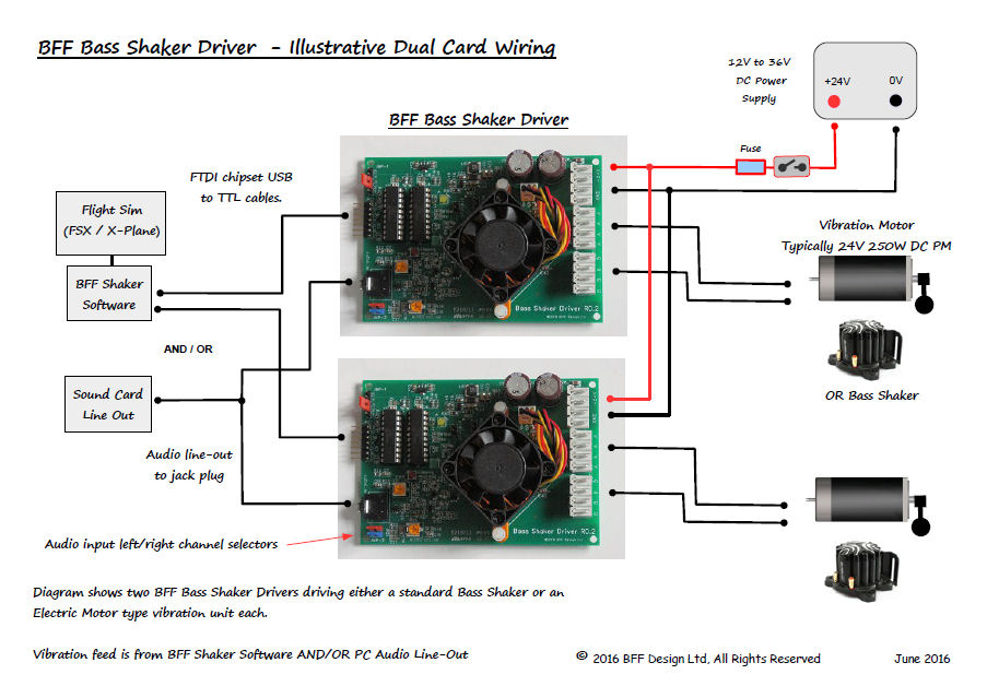 BFF Bass Shaker Driver Card - Aura bass shaker wiring diagram