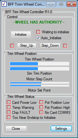 BFF Motorised Trim Wheel Software